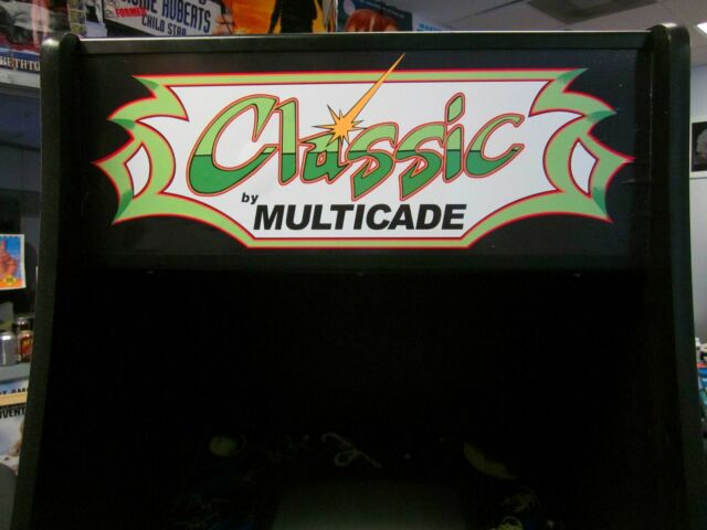 Arcade Jamma Multicade Mame Marquee 23x9 Adhesive Back