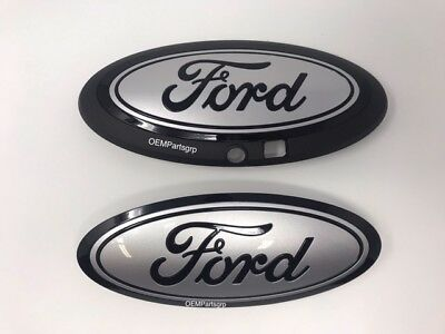 2018-2019 Ford F150 Custom Grille /& Tailgate Emblem Gloss Black UA No camera