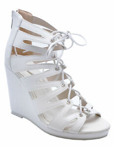 WOMENS-WHITE-LACE-UP-SUMMER-STRAPPY-WEDGES-SANDALS-OPEN-TOE-SHOES-SIZES-3-8
