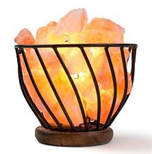 HemingWeigh Salt Bowl on Metal Stand with Salt Chips Electric Wire and Bulb