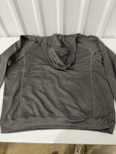 North End Adult Unisex Hooded Sweatshirt Carbon Heather Dark Gray Grey XXXL 3XL