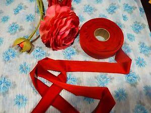 7mx3cm-neuve-tresse-galon-rouge-mercerie-ancienne-chapeaux-couture