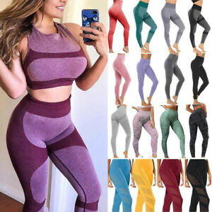 Seamless-Yoga-Pants-Leggings-Womens-Push-Up-Stretch-Sportswear-Running-Fitness