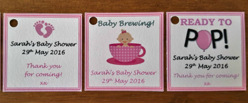 PERSONALISED BABY SHOWER FAVOUR LABELS ** GIFT TAGS  **THANK YOU GIFT GUEST TAGS