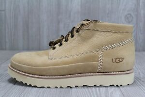 bb4ea0c634b 38 New UGG Men's Campfire Trail Leather Boots Tan Shoes Size 9.5 10 ...