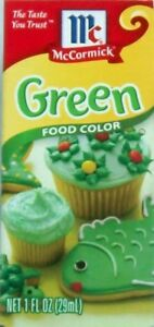 Details about McCormick Green Food Coloring 1 oz Bottle