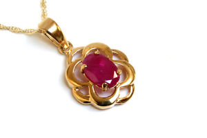 9ct-Gold-Ruby-Celtic-Pendant-and-Chain-Gift-Boxed-Necklace-Made-in-UK