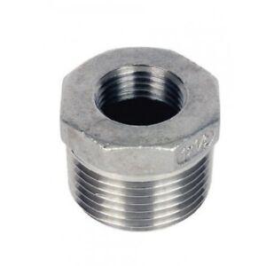 "1//2/"" x 1//8/"" BSP REDUCING BUSH 316 STAINLESS STEEL 12mm x 4mm"