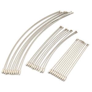 10x anello portachiavi filo portachiavi in acciaio inox
