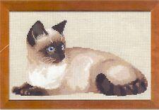 """Riolis Premium Cross Stitch Kit """"Siamese Cat"""" 1066"""