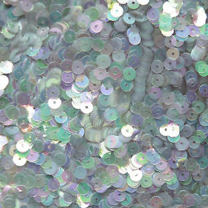 3mm Flat Round Loose Sequin Paillettes ~ Amber Golden Crystal Iris Rainbow
