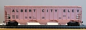 WALTHERS-ATHEARN-HO-Scale-ALBERT-CITY-ELEV-IOWA-CO-OP-54-039-Covered-Hopper-KDs
