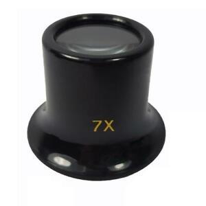 Uhrmacherlupe-7fach-Vergroesserung-Okular-in-schwarz-NEU