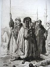 GRAVURE ANCIENNE 19e - BACHI BOZOUCQS DE L'ARMEE D'ANATOLIE