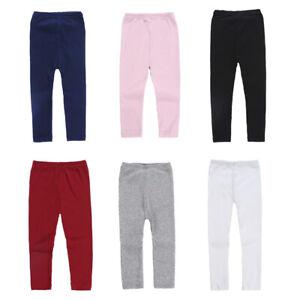 Enfant-Fille-Bebe-Slim-Fit-Crayon-Leggings-Tricot-Taille-Elastique-Pyjama-Pants