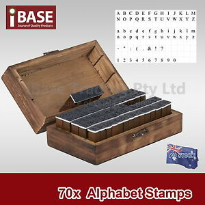 70-PCS-SET-NUMBER-ALPHABET-WOODEN-BOX-RUBBER-STAMP-LETTER-CASE-A-Z-MULTIPURPOSE