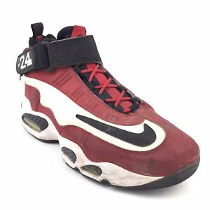 5f9228760a10 Men s Nike Air Max Griffey 1 Red Cincinnati Shoes Size 11 Sneakers ...