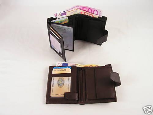 Moderne Große Damen Geldbörse Farbe schwarz