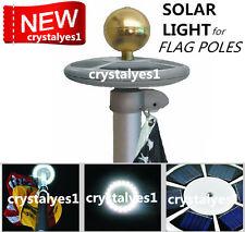 SunnyTech Upgraded Solar Flagpole Flag Pole Light 20LED Top Mount yard Garden