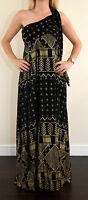 Alice by Temperley London gold print dress size 8 BNWT F1*