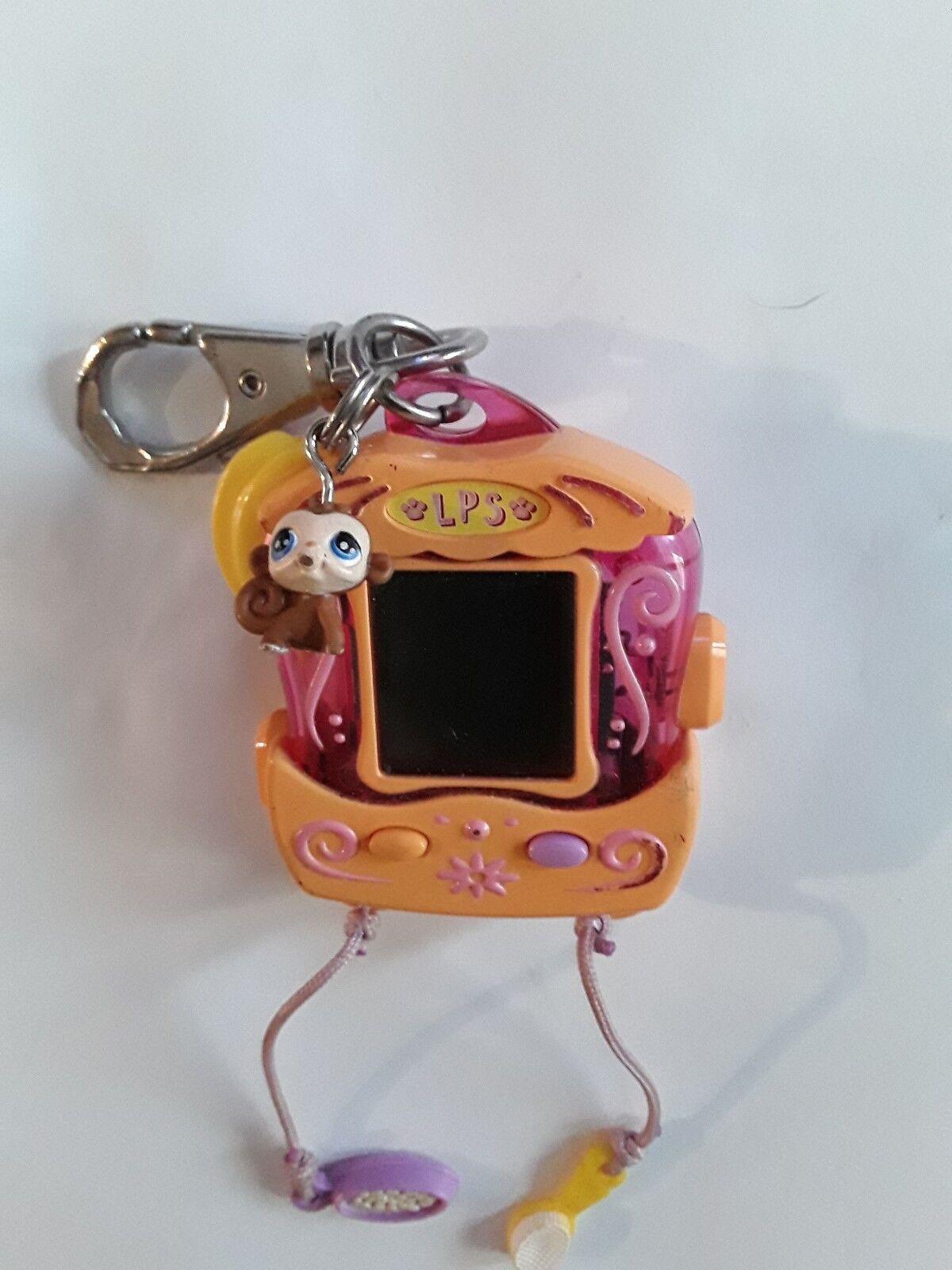 LITTLEST PET SHOP MONKEY ELECTRONIC VIRTUAL KEY RING HANDHELD GAME HASBRO 2006