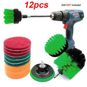 12pcs-Set-Trapano-Elettrico-Spazzola-Scrub-Pads-Potenza-Scrubber-Detergente-per-la-pulizia-degli