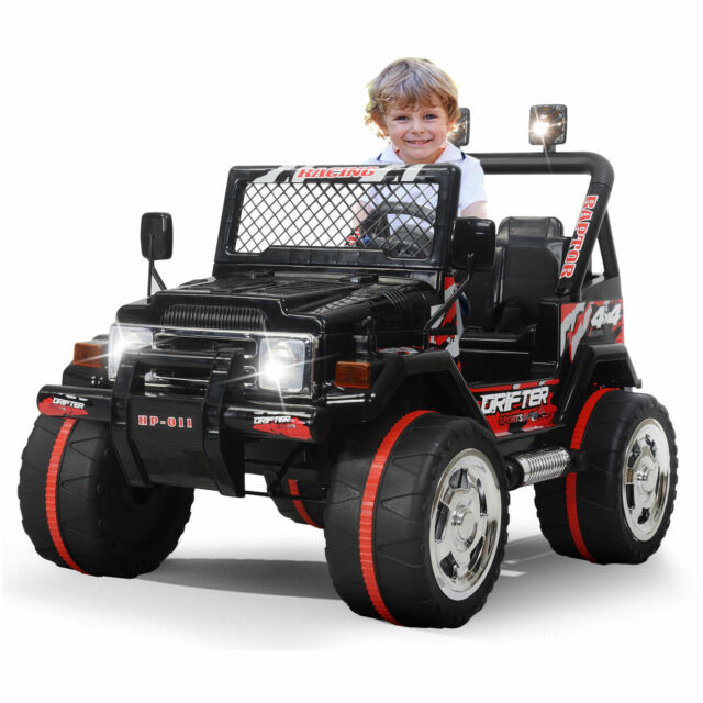 Electric Vehicles For Kids >> Kids Jeep Ride On Car 12v Electric Power Wheels Remote Control Mp3 Led Light Toy