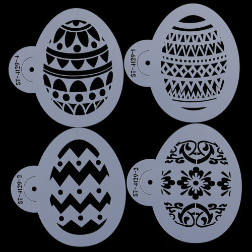 4pcs//set Easter Egg Shape Cookie Stencils Cake Cupcake Decorating Plastic Mould/%