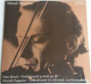 Yehudi Menuhin Bruch Paganini Violin Konzerte Eterna Stereo 8 26 555