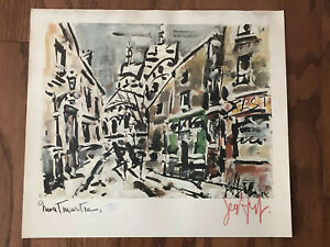 Gen-Paul-034-Montmartre-034-Hand-Signed-and-Numbered-159-220-Lithograph-w-COA