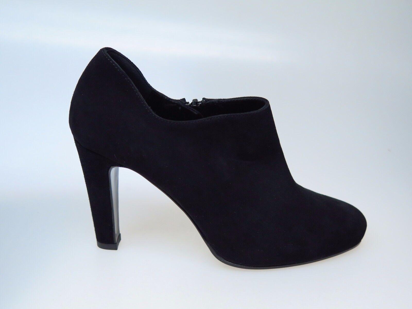 Sultana Italy zapatos señora botines botas de cuero n4257 Amber Black nuevo