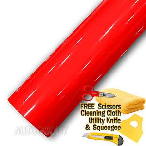 48-034-x-60-034-Super-Gloss-Red-Vinyl-Film-Wrap-Sticker-Air-Bubble-Free-4ft-x-5ft