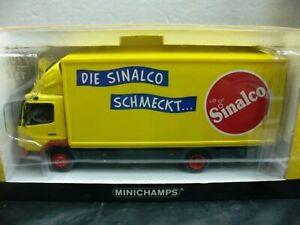 Wow extrêmement rare Mercedes Atego 815 Koffer Sinalco 2004 1:43 Minichamps-actros
