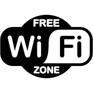 Free Wifi Zone Logo 12 Vinyl Decal Window Sticker Business Restaurant Coffee Ebay
