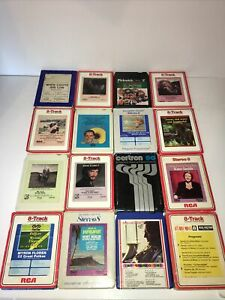 Vintage Lot of 16  8 Track Tapes Untested