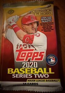 2020 Topps Series 2 Factory Sealed Hobby Pack From Sealed Box one Pack 14 Cards
