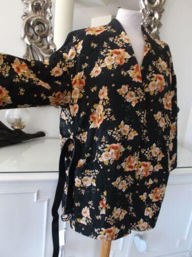€ Sleeve Puffer Print 95 Zara Bnwt Riem 69 Zwarte Oosterse 14 Jas M Kimono L 16 qUS4SOAw