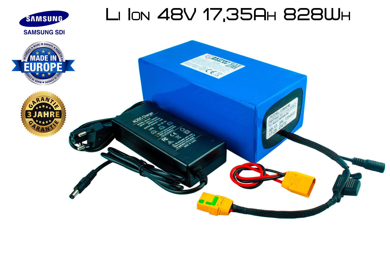 E-Bike Li-ion Akku 48V   17,25Ah    828Wh   13S5P  Samsung INR18650-35E