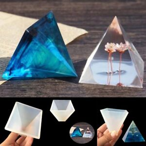Pyramid Silicone Mold Resin Jewelry Making Mould Epoxy Pendant Craft DIY Tools