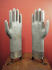 2 Vintage Metal Glove Molds Mid Century Modern Art Sculpture Abstract Industrial