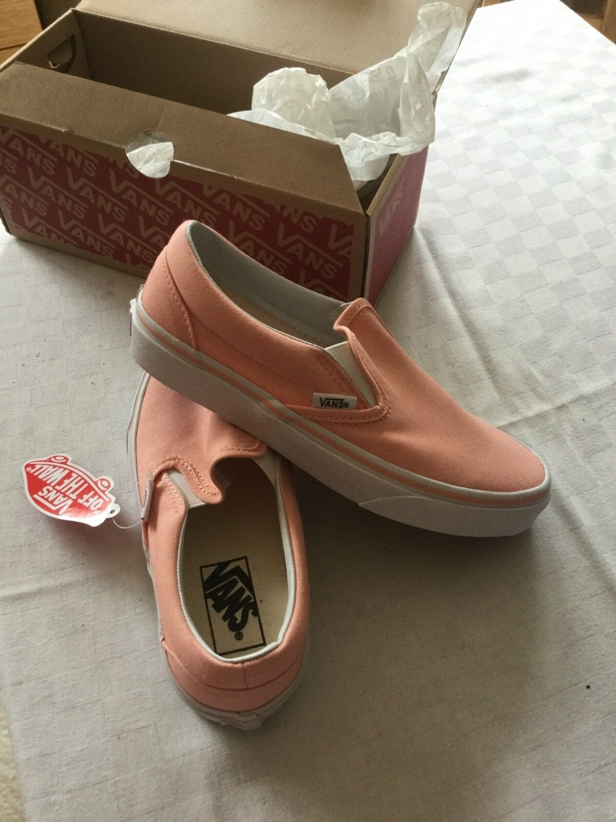 Vans classic slip on tropical peach true white Sneakers BNWB