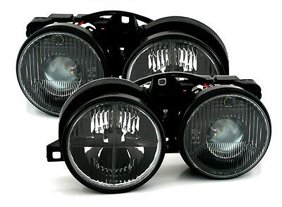 headlight H1 H1 set for BMW 3 Series E30 in black with RETICLE HALOGEN  82-94