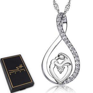 Muttertag-Halskette-925-Sterling-Silber-Damen-im-Etui-Schmuckhandel-Haak