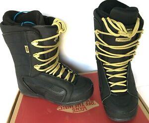 190-Vans-Hi-Standard-Womens-Snowboard-Boot-Sz-6-6-5-7-8-5-9-Black-Gold