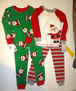 3863de695 Image is loading Carters-Christmas-Santa-Clause-Boys-4-Piece-Pajamas-