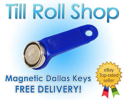 1 x Red Dallas Key Magnetic Fob iButton 1-Wire EPOS Free Del!