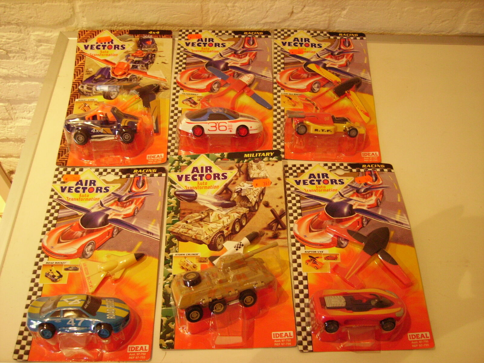 Air Vectors 6 models, complete series, from 1997