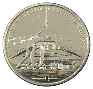 Australia-2013-25th-Anniversary-of-Parliament-House-20c-Cents-UNC-Coin-Carded