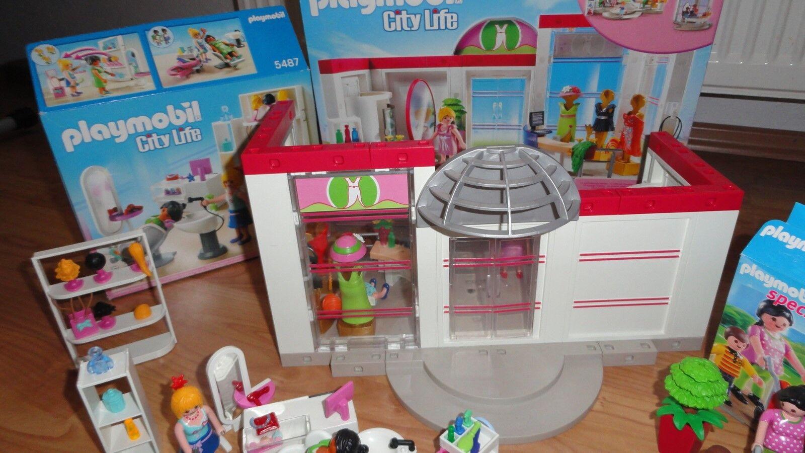 Playmobil City Life + Modeboutique 5486 + Life 5487 + 5490 + 4782 8145dc