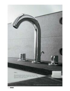 Kohler Oblo 10086 9 Sn Polished Nickel Widespread Bathroom Faucet W